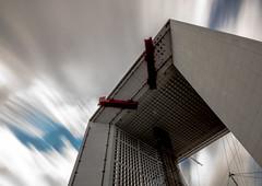 The Gate (\Nicolas/) Tags: arche defense paris architecture pose longue sky clouds nuages monument skyscrapper