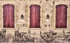 Shutters (Kari Siren) Tags: shutter window street cafe bench