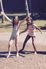 Dancing girls (Loulum) Tags: austria hellbrunn water garden sprinkler dancing