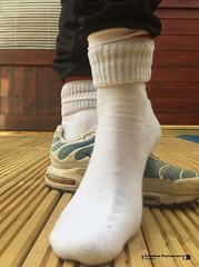 Scally Tns with Lacoste Socks (Scally Skin - Love skins Love Scally) Tags: scallytrainers niketns smellysocks skinhead trashedtrainers trashedsnickers dirtysocks lacostesocks sports socks chavsniffmysocks lickmysneakers