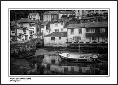Ebb Tide (Chalky666) Tags: landscape sea seascape cornwall boats mono art harbour fishing painterly