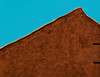 Turquoise Sky (studioferullo) Tags: abstract air architecture adobe beauty bluesky blue sky bright light building buildings city colorful brown gold ochre turquoise contrast design detail downtown house minimalism outdoor outdoors outside perspective pretty serene skyline sunshine sunlight sunny street texture diagonal albuquerque oldtown newmexico teal explore explored
