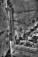 Prison Gate ('Ollie') Tags: prison gate door scary murder crime hdr shadow metal jail jails prisons wall flake rust rusting