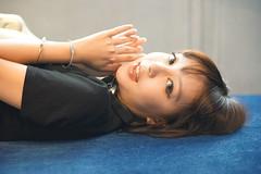 DSC07132 (rickytanghkg) Tags: asian chinese female model young woman pretty lady beautiful girl sexy cute cool sweet studio portrait indoor blue sony a7ii sonya7ii