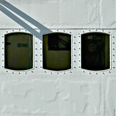 (SteffenTuck) Tags: outdoors boat stockholm steffentuck worn paintwork windows white patina abstract minimal