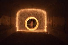 Steel Wool Photography (joshuahess1) Tags: light night wall tunnel steel wool photography friends fire