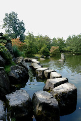 Behind the Rocks (UnsignedZero) Tags: belgium hasselt item japanesetuin landscapes landscaping object out outdoor outdoors outside outsides sunny water weather