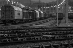 railroad tracks (michael.taferner) Tags: canon eos 6d tamron 70300 trails black white night traincar