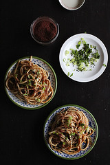 cold soba with tamarind sauce (Annabelle Orozco) Tags: cultivarium recipes styling food colors breakfast vegan plants cold soba tamarind sauce fusion japanese