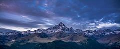 Monviso & Alps (carlogaia) Tags: cuneo montagna alpi alba clouds nuvole valle snow neve ghiacciaio sunrise