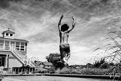 Sky Ballet (uselessbay) Tags: dxofilmpack5 fujineopanacros100 jordan nikon uselessbayphotography williamtalley blackandwhite children d700 digital diving family swimming uselessbay water charlestown rhodeisland