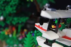 Jungle Showdown (soccersnyderi) Tags: lego moc creation adventurers jungle temple ruins cliff rockwork tree palm design swamp technique