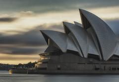 Sails (Crouchy69) Tags: sunrise dawn landscape seascape sea clouds sky long exposure building architecture sydney opera house australia