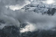 Blmlisalphorn Glacier (chitlesh) Tags: bern blackandwhite clouds cloudscapes glacier kandersteg lake mountains oeschinensee snow suisse switzerland