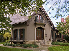 Lane Hooven Hse 365KB (dockerdee64) Tags: vacation2016 hamilton oh architecture historichouses octagonhouse cupola carpentergothic