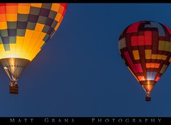 Two Ballons by Night (Matt Grans Photography) Tags: hotairballoons balloons flight flying glowing morning dawn night nevada
