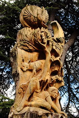 Wood Sculpture Pershore Abbey Grounds 3 (Andisee) Tags: wood carving chainsaw