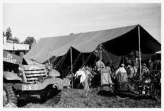 """Motorpool - 1944"" (photo_secessionist) Tags: army war ww2 vehicles soldiers military largeformat 4x5 graflex speedgraphic kodak ektarf47127mmlens vintagecamera film bw blackwhite bn selfdeveloped d76 ilford hp4 fakevintage recreated gettysburg pennsylvania usnps nps eisenhowernationalhistoricsite"