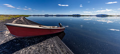 Iceland (Jan Hoogendoorn) Tags: iceland ijsland meer lake boat boot