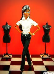 Make It Work - Mc'Kie (Dawn Ellis) Tags: barbie blackdoll blackbarbie aabarbie dolldiorama barbiepivotal potterybarnbarbie makeitworkbarbie timgunnbarbie makeitworkmckie