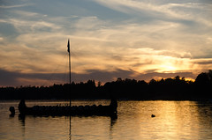 ANN_2170 (anemirovskaya) Tags: sunset lake boat poland