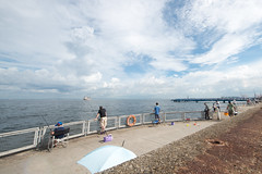 Sea fishing holiday (shinichiro*) Tags: autumn fall japan september 日本 yokohama crazyshin 横浜 2012 神奈川県 横浜市 afsnikkor1424mmf28ged nikond800e 晴れたり降ったりの日 20120901d020635 日傘の方もいらっしゃる