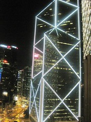 View from the roof of The China Club in Hong Kong
