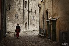 (jaw0) Tags: man alley tallinn estonia cobblestone 62c064250