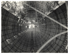 Photograph of the Interior Hull of a Dirigible before Gas Cells were Installed, ca. 1933 (The U.S. National Archives) Tags: aircraft aviation zeppelin airship usnavy usn goodyear dirigible lighterthanair navalaviation unitedstatesnavy goodyearzeppelin ussakron usnationalarchives zrs4 ussakronzrs4 nara:arcid=6708559 goodyearzeppelincorporation