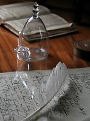Schillers desk (:Linda:) Tags: germany town weimar desk feather thuringia study manuscript schillermuseum