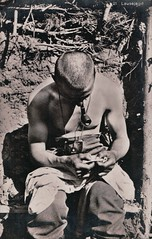 In the trenches (paws22) Tags: soldier army pipe trenches pipesmoker