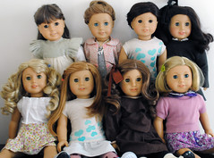 Group Photo (clara-owald) Tags: girl doll rebecca american mia jess kit ruthie samantha lanie nicki