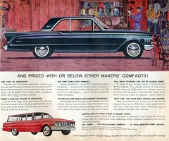 1961 Mercury Comet 2 Door Sedan and Station Wagon (coconv) Tags: pictures auto door old 2 two art classic cars car station illustration sedan vintage magazine ads painting advertising wagon cards photo flyer automobile post image mercury photos drawing antique album postcard ad picture images advertisement vehicles photographs card photograph postcards vehicle autos collectible collectors brochure comet coupe automobiles 1961 dealer 61 prestige