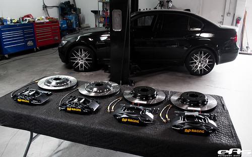 Flickriver: Photoset 'Black E90 M3 AP Racing Brake Install