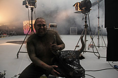 Julian Davis as the Minotaur at One Extraordinary World Autumn film shoot  ROH 2012 (Royal Opera House Covent Garden) Tags: filmshoot behindthescenes juliandavis theminotaur oneextraordinaryworld
