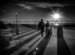 Michigan City B&W (HikingJoe) Tags: city sunset shadows michigan indiana lakemichigan hdr washingtonpark photographyforrecreationeliteclub