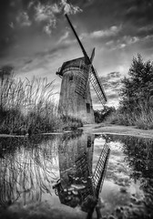 Windmill on Bidston Hill, Wirral (Lost Light) Tags: old water windmill sepia architecture rural reflections mono retro mersey wirral bidston wdcc bidstonwindmill
