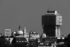 Velasca tower (Luca Enrico Sironi) Tags: blackandwhite bw panorama milan milano bianconero torrevelasca