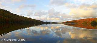 Autumn Panoramic at Eighth Lake