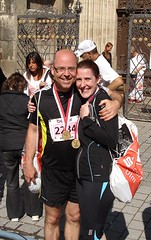 The Finishers (Seabagg) Tags: race germany cathedral running finish ulm halfmarathon halbmarathon ulmcathedral ulmmunster einsteinmarathon einsteinhalbmarathon