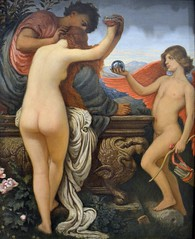 Elihu Vedder (1836-1923) - The Cup of Love (in full color) - Metropolitan Museum of Art, New York, Sep 2012 (ketrin1407) Tags: mars color colour naked nude venus eros cupid mythology elihuvedder