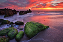 Best Sunset (Shawn S. Park) Tags: sunset beach rock canon moss pch sycamore 5d shawn 1635 ef1635mmf28lii sycamorecanyonbeach eos5dmarkii