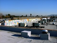 Eatfuck Smog (strange thought) Tags: roof colors graffiti smog san letters jose dtc kyt eatfuck