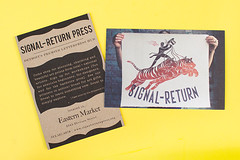 Signal-Return (Print Pinball) Tags: graphicdesign creative portlandoregon printmedia sustainable recycledpaper chipboard offsetprinting soyink greendesign creativedesign pinballpublishing greenprinting ecofriendlyprinting fullcolorprinting mvbfonts offsetprintshop printpinball printingmadefun printitem sustainableprinting