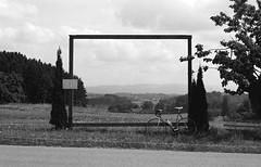 Road Bike Frame (dennibraun) Tags: bw slr film analog 35mm 50mm diy apx100 135 pentaxmesuper rolleiretro100 kleinbild