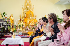Ceremony (OmegaMoth) Tags: family wedding people colors temple gold nikon sitting buddha pray praying ceremony buddhism special event weddingday buddhisttemple weddingceremony thaibuddhism watyarnnarangsee d7000 nikond7000 sugarcrashphotography thaibuddhistwedding watyarnnarangseetemple