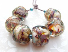 Old Fashioned Glamour Rocks (3) (Glittering Prize - Trudi) Tags: glass glitter beads glamour rocks handmade faceted nuggets trudi lampwork artisan shimmer goldstone gbuk