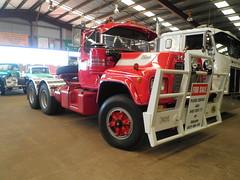 Mack R600 (atkinson3800) Tags: red white truck drive transport australian australia lorry transportation motor aussie mack trucking bogie 2012 dubbo bullbar r600 daycab