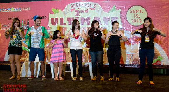 The chicken dance contest at the Ultimate Taste Test - Too cute!