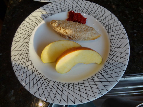Gefilte Fish, Apple, Honey and Horse Radish
